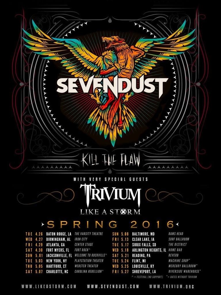 sevendust kill the flaw tour