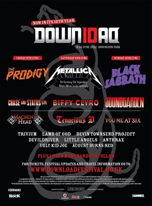 Trivium en el Download Festival 2012