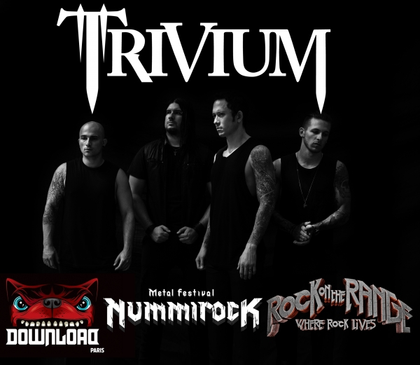 Trivium en los festivales Rock On The Range, Download Paris, Nummirock 2016