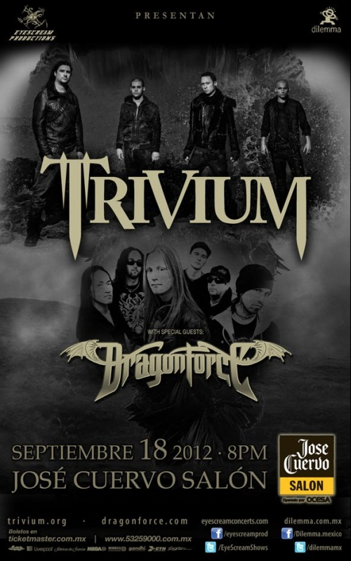 Eyescream Productions regalará boletos para el show de Trivium en México