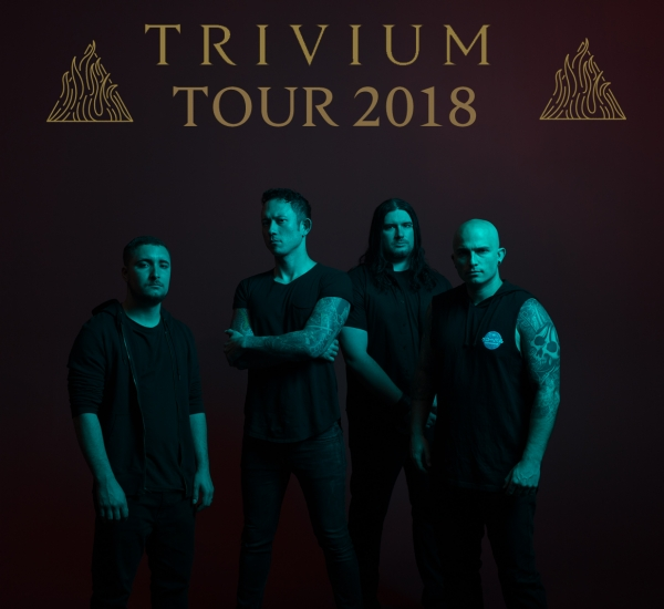 Trivium Tour 2018: Europa, Reino Unido + participación en Welcome to Rockville Festival