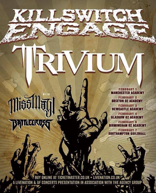 Tour junto a Killswitch Engage